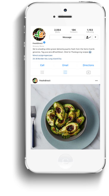 instagram freshdirect mock